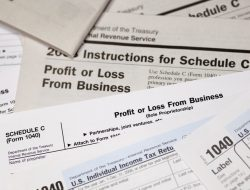 1040 US Tax Forms and Schedules; Schedule C Profit and Loss from Business.